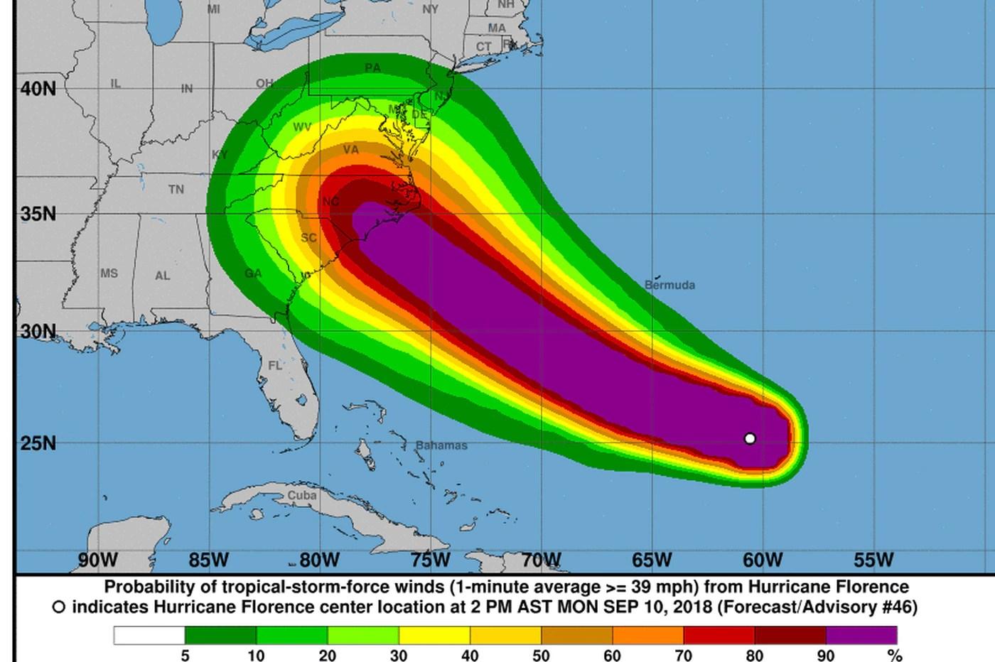 hight resolution of as hurricane florence tracks toward east coast philadelphia should take a deep breath