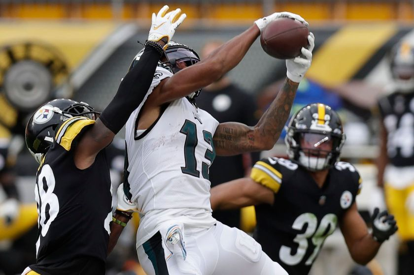 Travis Fulgham, Carson Wentz connect as one of Philadelphia Eagles' few  bright spots in Week 5