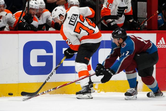 Flyers winger David Kase makes good showing in NHL debut against Avalanche