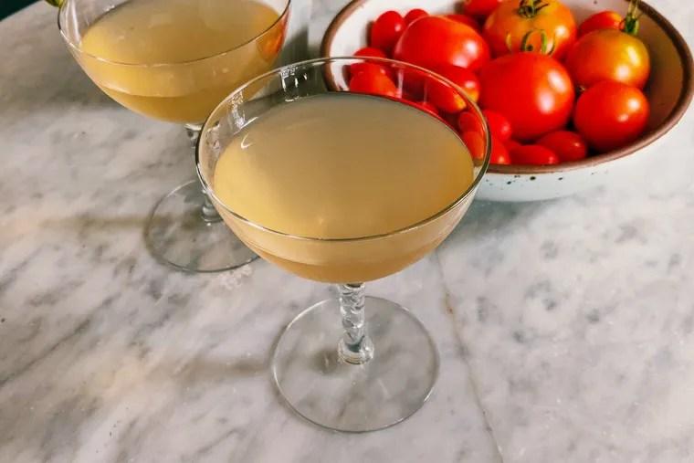 Using peak-season fruit, this tomato water martini tastes like walking through a garden at sunset.
