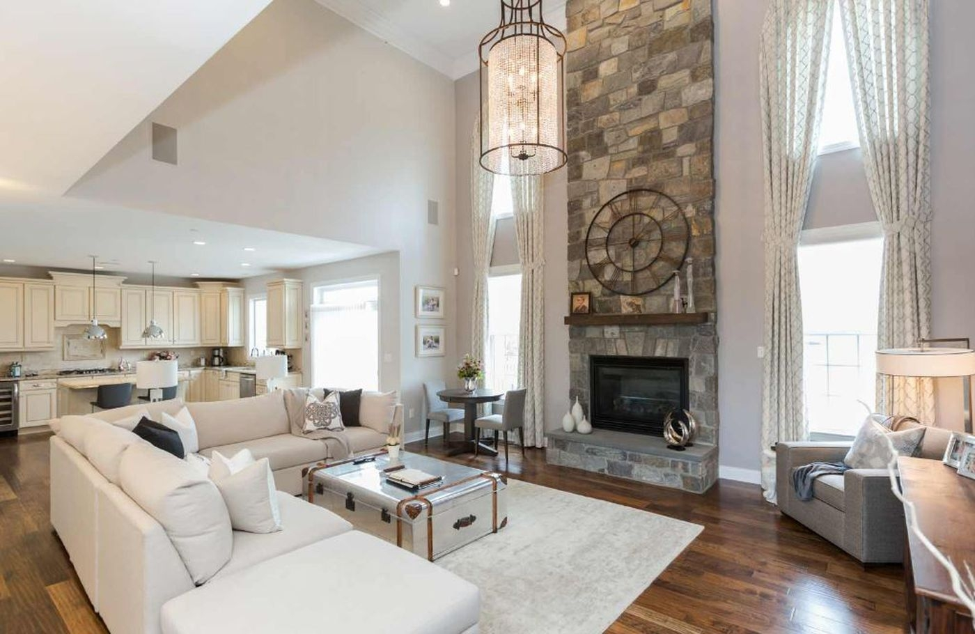 Is 2018 The Beginning Of The End Of The Open Concept Floor Plan   Open Concept With Stairs In Middle   Space   Dining Room   Kitchen   House   Living Room