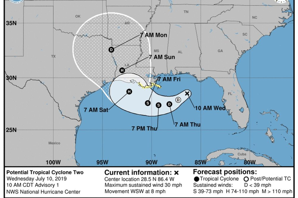 medium resolution of gulf storm potential super soaker is likely to become hurricane barry in coming days