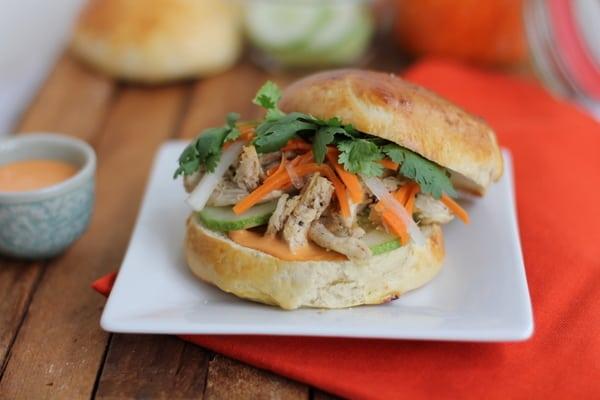 Chicken Banh Mi Sandwich // Inquiring Chef