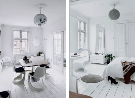 Wit en retro inrichting in Denemarken  Inrichtinghuiscom