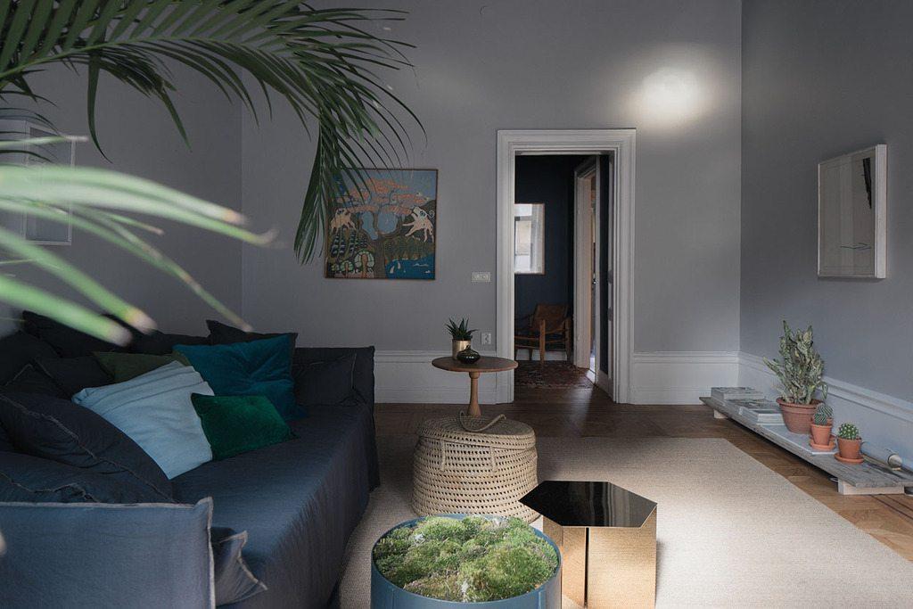 Mooie blauw grijze woonkamer  Inrichtinghuiscom