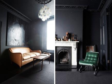 Donkere vintage woonkamer  Inrichtinghuiscom