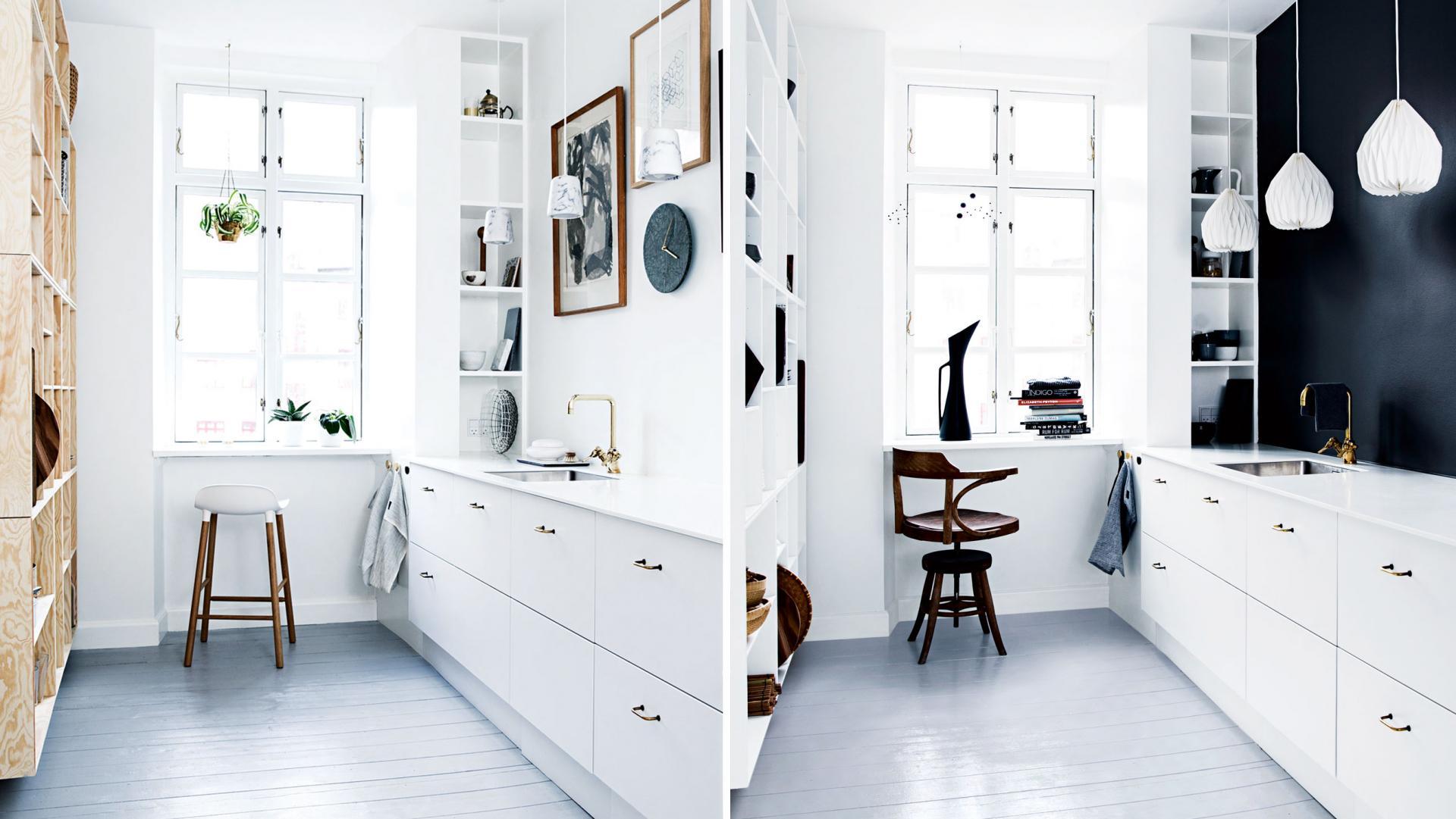 En keuken twee stijlen van Deense interieurstylist