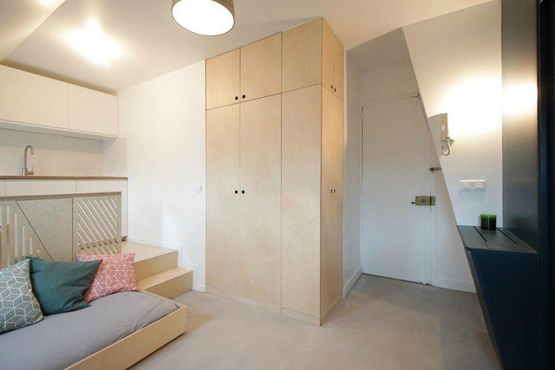 Stoer mini studio appartement van 15m2  Inrichtinghuiscom
