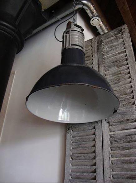 Unieke MAZDA industrile jaren 50 fabriekslamp