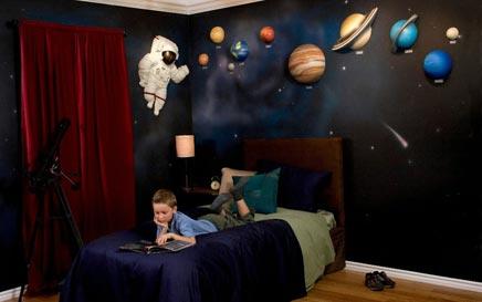 Kinderkamer met planeten thema  Inrichtinghuiscom