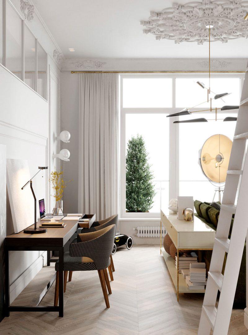 Klassiek chic appartement van 110m2  Inrichtinghuiscom