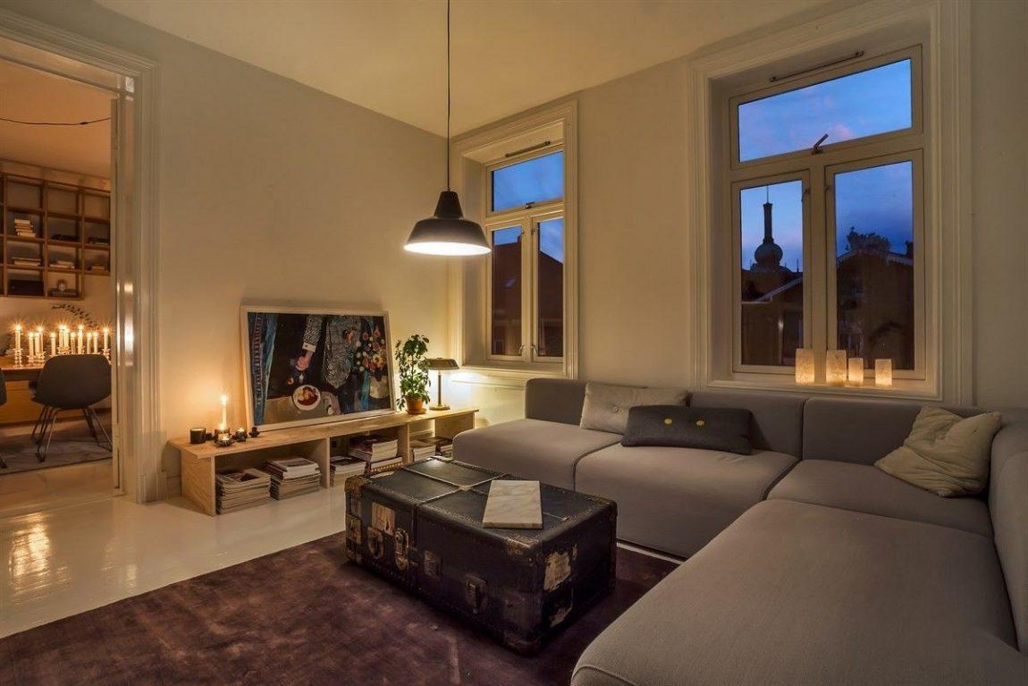 Minimalistisch mooie woonkamer uit Oslo  Inrichtinghuiscom