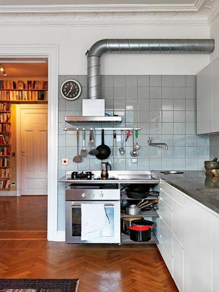 Moderne keuken in klassieke huisinrichting  Inrichting