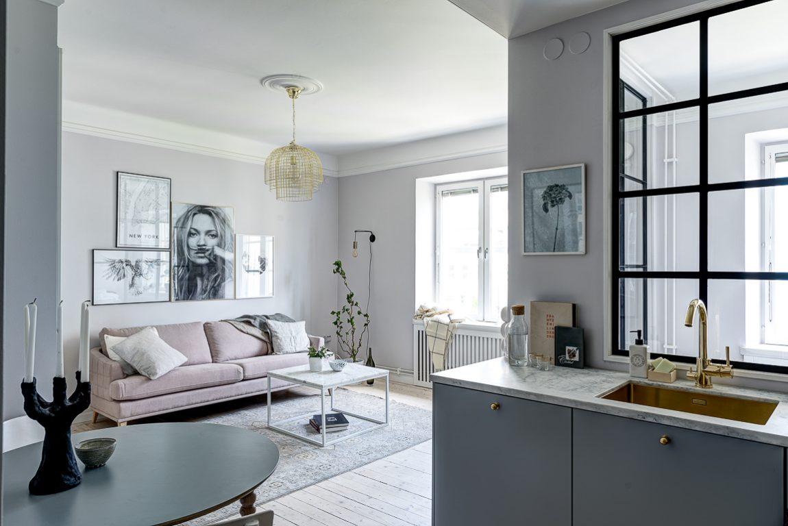 Mooi klein appartement met een vrouwelijk tintje van 37m2