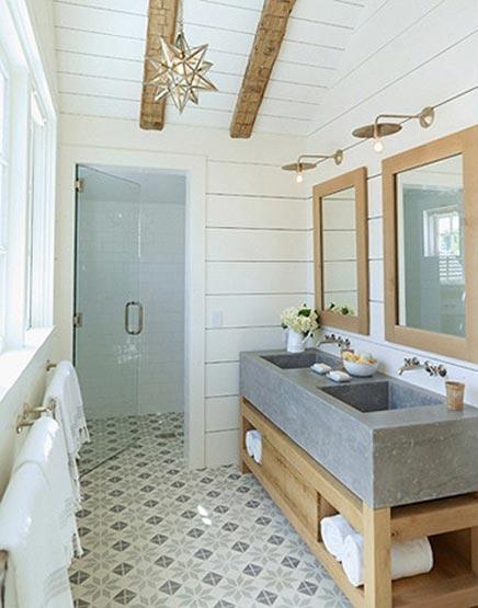 Rustieke badkamer van landelijke woning  Inrichtinghuiscom