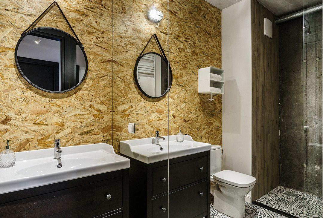 Kleine badkamer met stoere materialen  Inrichtinghuiscom