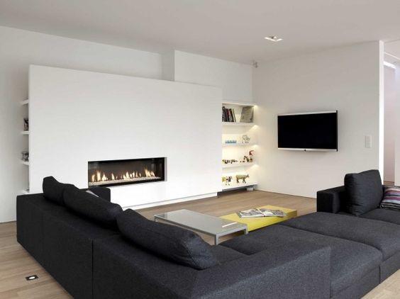 TV en open haard combineren  Inrichtinghuiscom