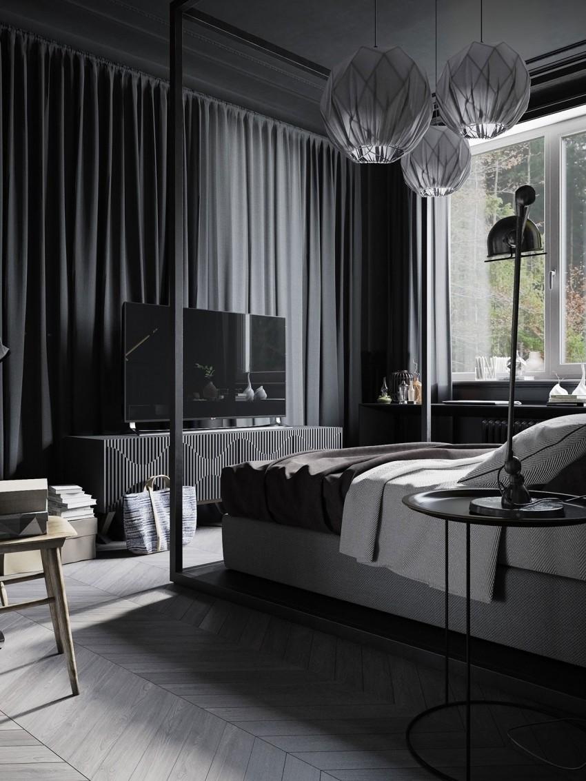 Zwarte slaapkamer voor de man  Inrichtinghuiscom