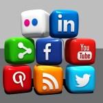 Le icone dei social presenti sul sito internet