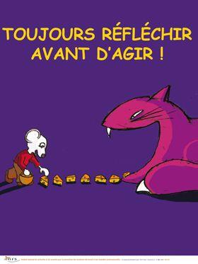 Toujours Rflchir Avant Dagir Affiche INRS