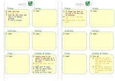 ARC Junior Editable Weekly Checklist