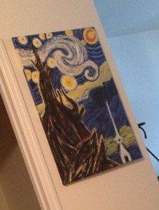 Starry Night rendition by a local artist whose name we never got.