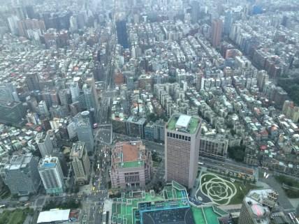 View of Taipei from top floor Taipei 101, Jan 2017