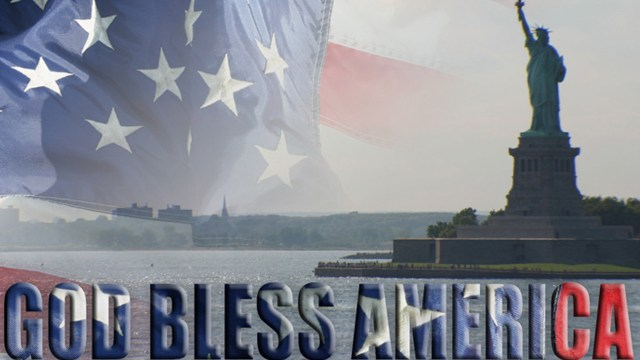 Flag - Statue of Liberty - God Bless America