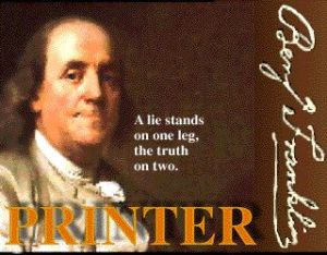 Ben Franklin printer