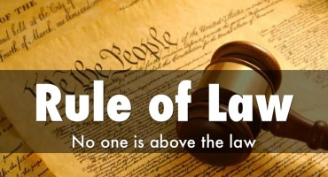 Rule of Law - No One is Above the Law
