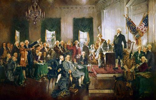 Constitution signing