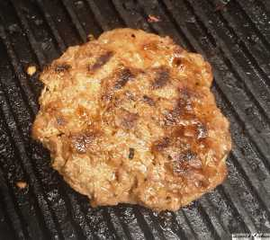 Beef Burger on the Grill