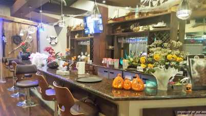 Bar Area all dressed up for Halloween