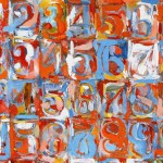 Jasper Johns, Numbers in Color (particolare), 1958,59Albright-Knox Art Gallery, Buffalo, N.Y.