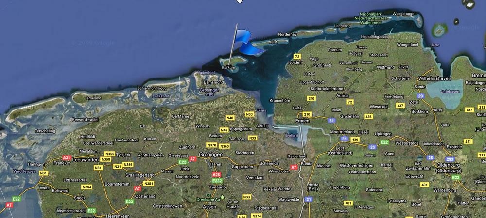 Anreise  Lage InselherzMuschel Borkum