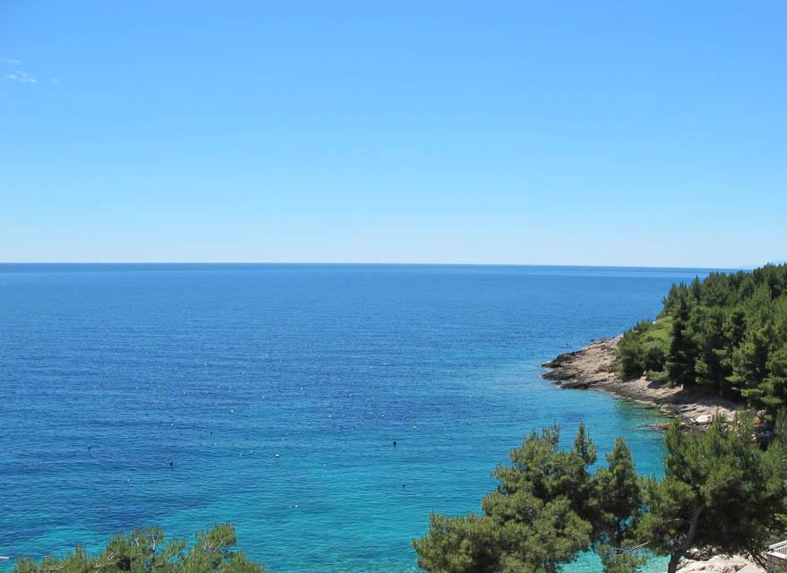 Apartment mit 2 Zimmer mit Meerblick auf Insel Hvar in Kroatien