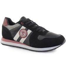 Ανδρικά sneakers με διπλή λωρίδα στο πλάι Μαύρο