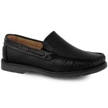 Ανδρικά loafers με λεπτομέρεια από κορδόνι Μαύρο