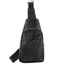 Ανδρικές τσάντες με διαγώνιο φερμουάρ Μαύρο