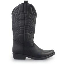 Γυναικείες μπότες τύπου cowboy style Μαύρο
