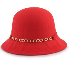 Καπέλα με διακοσμητική αλυσίδα και φιόγκο Κόκκινο