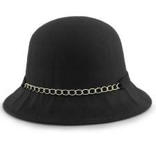 Καπέλα με διακοσμητική αλυσίδα και φιόγκο Μαύρο