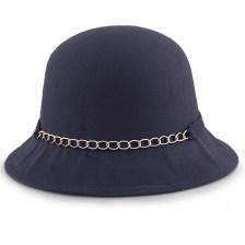 Καπέλα με διακοσμητική αλυσίδα και φιόγκο Μπλε