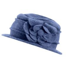 Καπέλα με διακοσμητικά λουλούδια Μπλε