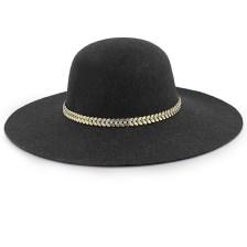 Καπέλα με μεταλλικό διακοσμητικό με strass Μαύρο