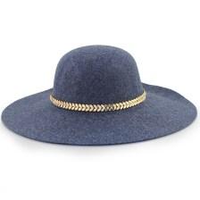 Καπέλα με μεταλλικό διακοσμητικό με strass Μπλε