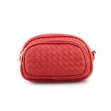 Γυναικείες τσάντες μέσης με ανάγλυφο μοτίβο Κόκκινο