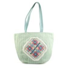 Γυναικείες τσάντες θαλάσσης με μοτίβο με λουλούδια Πράσινο