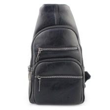 Ανδρικές τσάντες ώμου με εξωτερικά φερμουάρ Μαύρο