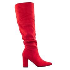 Γυναικείες μπότες μυτερές Κόκκινο